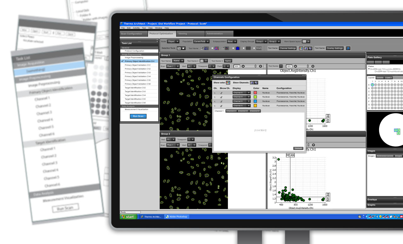 Cellular Analyzation Software User Interface